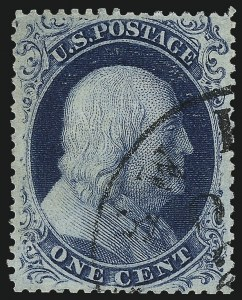 Sale Number 1007, Lot Number 2148, 1c 1857-60 Issue (Scott 19b-24)1c Blue, Ty. IIIa (22), 1c Blue, Ty. IIIa (22)