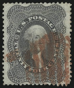Sale Number 1007, Lot Number 2169, 24c-90c 1857-60 Issue (Scott 37-39)24c Gray Lilac (37), 24c Gray Lilac (37)