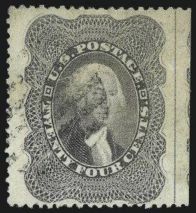 Sale Number 1007, Lot Number 2170, 24c-90c 1857-60 Issue (Scott 37-39)24c Gray Lilac (37), 24c Gray Lilac (37)