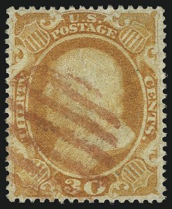 Sale Number 1007, Lot Number 2175, 24c-90c 1857-60 Issue (Scott 37-39)30c Orange (38), 30c Orange (38)