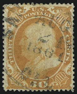 Sale Number 1007, Lot Number 2178, 24c-90c 1857-60 Issue (Scott 37-39)30c Orange (38), 30c Orange (38)