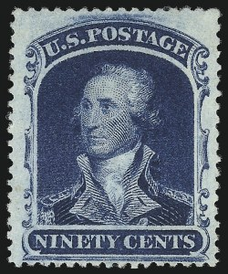 Sale Number 1007, Lot Number 2184, 24c-90c 1857-60 Issue (Scott 37-39)90c Blue (39), 90c Blue (39)