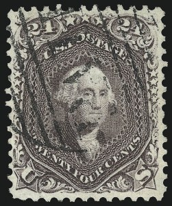 Sale Number 1007, Lot Number 2212, 1861-66 Issue (Scott 69-76)24c Red Lilac (70), 24c Red Lilac (70)