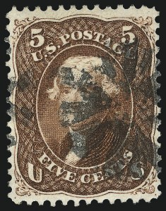 Sale Number 1007, Lot Number 2224, 1861-66 Issue (Scott 69-76)5c Red Brown (75), 5c Red Brown (75)
