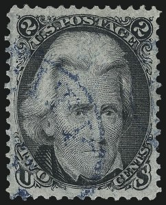 Sale Number 1007, Lot Number 2237, 1867-68 Grilled Issue (Scott 79-96)2c Black, F. Grill (93), 2c Black, F. Grill (93)