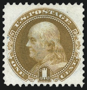Sale Number 1007, Lot Number 2299, 1875 Re-Issue of 1869 Pictorial Issue (Scott 123-133a)1c Buff, Re-Issue (123), 1c Buff, Re-Issue (123)