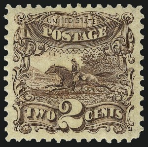 Sale Number 1007, Lot Number 2300, 1875 Re-Issue of 1869 Pictorial Issue (Scott 123-133a)2c Brown, Re-Issue (124), 2c Brown, Re-Issue (124)