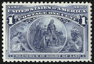 Sale Number 1007, Lot Number 2401, 1893 Columbian Issue (1c thru 30c, Scott 230-239)1c Columbian (230), 1c Columbian (230)