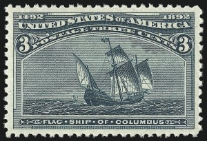 Sale Number 1007, Lot Number 2404, 1893 Columbian Issue (1c thru 30c, Scott 230-239)3c Columbian (232), 3c Columbian (232)