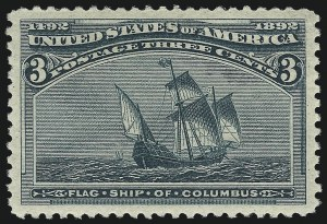 Sale Number 1007, Lot Number 2405, 1893 Columbian Issue (1c thru 30c, Scott 230-239)3c Columbian (232), 3c Columbian (232)