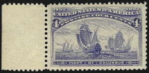 Sale Number 1007, Lot Number 2407, 1893 Columbian Issue (1c thru 30c, Scott 230-239)4c Columbian (233), 4c Columbian (233)