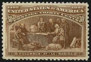 Sale Number 1007, Lot Number 2420, 1893 Columbian Issue (1c thru 30c, Scott 230-239)30c Columbian (239), 30c Columbian (239)