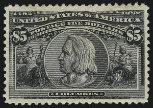Sale Number 1007, Lot Number 2458, 1893 Columbian Issue ($2.00 thru $5.00, Scott 242-245)$5.00 Columbian (245), $5.00 Columbian (245)