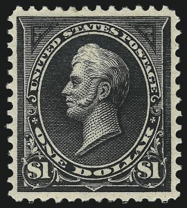 Sale Number 1007, Lot Number 2516, 1895 Watermarked Bureau Issue (Scott 268-284)$1.00 Black, Ty. I (276), $1.00 Black, Ty. I (276)