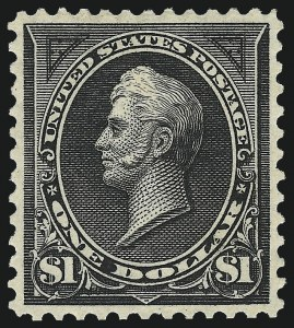 Sale Number 1007, Lot Number 2518, 1895 Watermarked Bureau Issue (Scott 268-284)$1.00 Black, Ty. II (276A), $1.00 Black, Ty. II (276A)