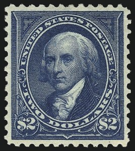 Sale Number 1007, Lot Number 2519, 1895 Watermarked Bureau Issue (Scott 268-284)$2.00 Bright Blue (277), $2.00 Bright Blue (277)