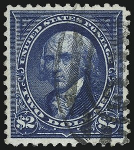 Sale Number 1007, Lot Number 2520, 1895 Watermarked Bureau Issue (Scott 268-284)$2.00 Bright Blue (277), $2.00 Bright Blue (277)