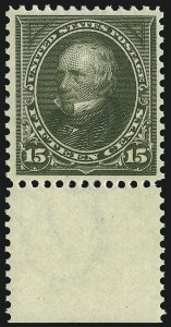 Sale Number 1007, Lot Number 2531, 1895 Watermarked Bureau Issue (Scott 268-284)15c Olive Green (284), 15c Olive Green (284)