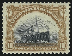 Sale Number 1007, Lot Number 2584, 1901 Pan-American Issue (Scott 294-299)10c Pan-American (299), 10c Pan-American (299)