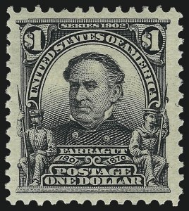 Sale Number 1007, Lot Number 2599, 1902-08 Issues (Scott 300-320)$1.00 Black (311), $1.00 Black (311)