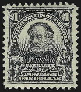 Sale Number 1007, Lot Number 2601, 1902-08 Issues (Scott 300-320)$1.00 Black (311), $1.00 Black (311)