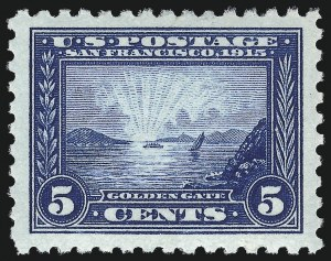 Sale Number 1007, Lot Number 2697, 1913-15 Panama-Pacific Issue (Scott 397-404)5c Panama-Pacific, Perf 10 (403), 5c Panama-Pacific, Perf 10 (403)