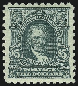 Sale Number 1007, Lot Number 2771, 1916-17 Issues (Scott 464-480)$5.00 Light Green (480), $5.00 Light Green (480)