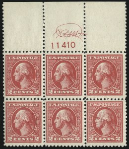 Sale Number 1007, Lot Number 2816, 1918-20 Offset Printing Issues (Scott 528-534B)2c Carmine, Ty. VI (528A), 2c Carmine, Ty. VI (528A)
