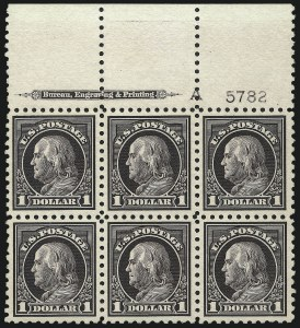 Sale Number 1010, Lot Number 111, Washington-Franklin and Panama Pacific Issues$1.00 Violet Black (478), $1.00 Violet Black (478)