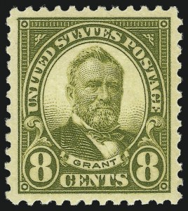 Sale Number 1010, Lot Number 117, 1922 and Later Issues8c Olive Green (560), 8c Olive Green (560)