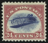 Sale Number 1010, Lot Number 120, 24c Carmine Rose & Blue, Center Inverted (C3a)
