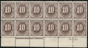 Sale Number 1010, Lot Number 127, Special Delivery thru Officials10c Red Brown (J19), 10c Red Brown (J19)