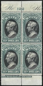 Sale Number 1010, Lot Number 131, Special Delivery thru Officials$10.00 State (O70), $10.00 State (O70)
