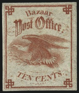 Sale Number 1010, Lot Number 169, Revenues, Sanitary FairMetropolitan Fair, New York, 10c Red (WV9), Metropolitan Fair, New York, 10c Red (WV9)