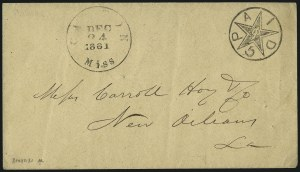 Sale Number 1010, Lot Number 175, Confederate StatesCanton Miss., 5c Black entire (14XU1), Canton Miss., 5c Black entire (14XU1)