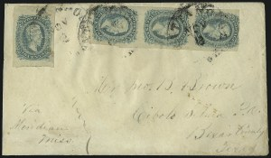 Sale Number 1010, Lot Number 183, Confederate States10c Greenish Blue, Die A (11c), 10c Greenish Blue, Die A (11c)