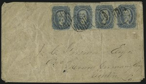 Sale Number 1010, Lot Number 184, Confederate States10c Blue, Die A (11), 10c Blue, Die A (11)
