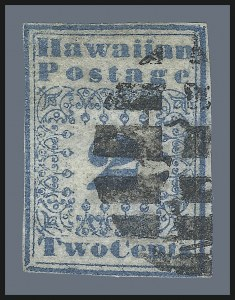 Sale Number 1010, Lot Number 186, Hawaii, including Missionaries1851, 2c Blue (1), 1851, 2c Blue (1)