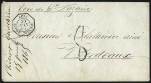 Sale Number 1010, Lot Number 193, French Consular P.O. in CubaCuba Imper. Eugenie 20 Juin 65, Cuba Imper. Eugenie 20 Juin 65