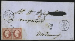Sale Number 1010, Lot Number 194, French Consular P.O. in CubaFRANCE, 1860, 80c Rose (20), FRANCE, 1860, 80c Rose (20)