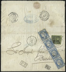 Sale Number 1010, Lot Number 198, French Consular P.O. in CubaFRANCE, 1871, 25c Blue (58), FRANCE, 1871, 25c Blue (58)