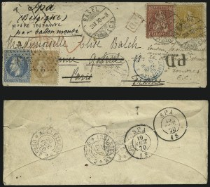 Sale Number 1010, Lot Number 213, Europe and ColoniesFRANCE, Par Ballon Monte, FRANCE, Par Ballon Monte
