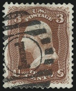 Sale Number 1010, Lot Number 55, 1875 Re-Issue of 1861-66 Issue3c Brown Red, Re-issue (104), 3c Brown Red, Re-issue (104)