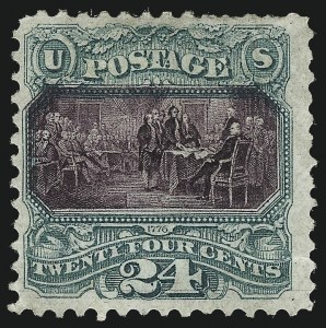 Sale Number 1010, Lot Number 59, 1869 Pictorial Issue and Re-Issue24c Green & Violet, Without Grill (120a), 24c Green & Violet, Without Grill (120a)