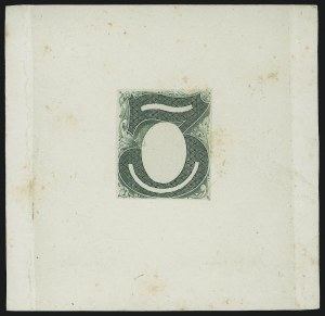 Sale Number 1010, Lot Number 63, 1870-88 Bank Note Issues, Essays3c Green, Columbia Portrait, Large Die Essay on India (147-E1B), 3c Green, Columbia Portrait, Large Die Essay on India (147-E1B)