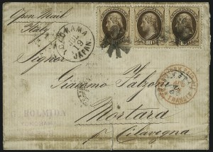 Sale Number 1010, Lot Number 76, U.S. Post Offices in Japan and China10c Brown (161), 10c Brown (161)