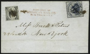 Sale Number 1011, Lot Number 1669, Independent MailsAmerican Letter Mail Co., (5c) Blue on Gray (5L3), American Letter Mail Co., (5c) Blue on Gray (5L3)