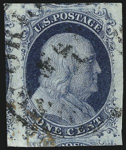 Sale Number 1011, Lot Number 394, 1c-12c 1851-56 Issue (Scott 6-17)1c Blue, Ty. II (7), 1c Blue, Ty. II (7)