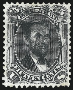 Sale Number 1011, Lot Number 458, 1861-66 Issue (Scott 67-78)15c Black (77), 15c Black (77)