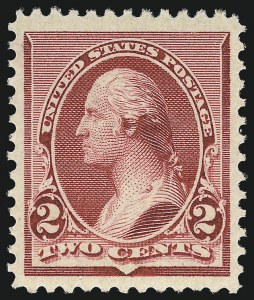 Sale Number 1011, Lot Number 569, 1890-93 Issue (Scott 219D-229)2c Lake (219D), 2c Lake (219D)